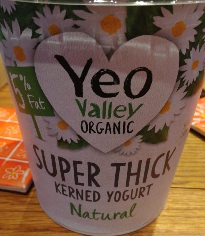 Fotografie - Organic Super Thick Natural Kerned Yogurt 5% fat Yeo Valley