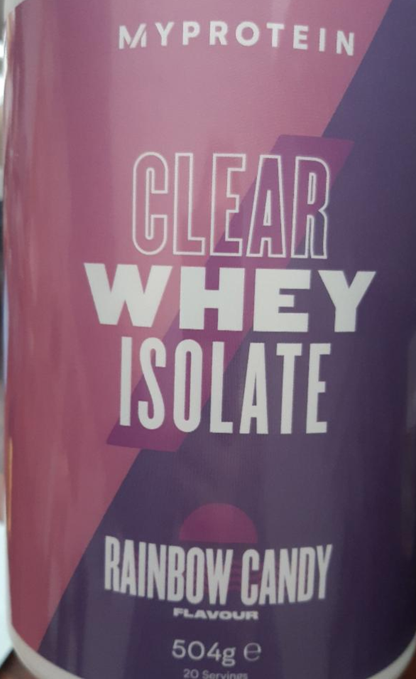 Fotografie - Clear Whay Isolate Rainbow Candy My Protein