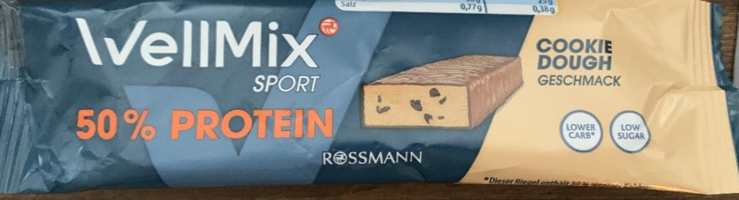 Fotografie - Protein Riegel low sugar Cookie 50% WellMix
