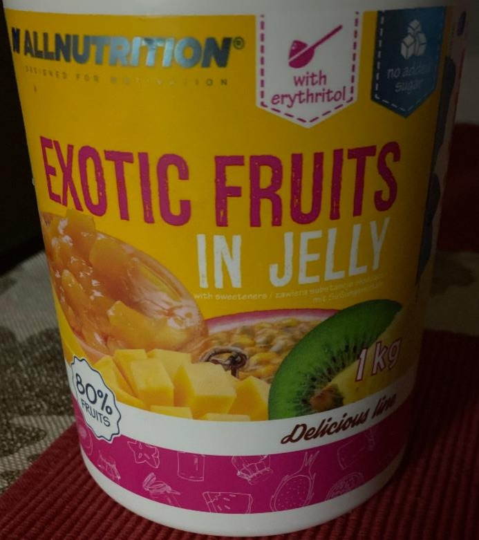Fotografie - Exotic fruits in Jelly Allnutrition