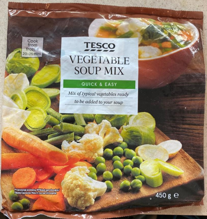 Fotografie - Vegetable Soup Mix Quick & Easy Tesco