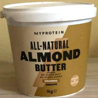 Fotografie - Almond butter original smooth MyProtein