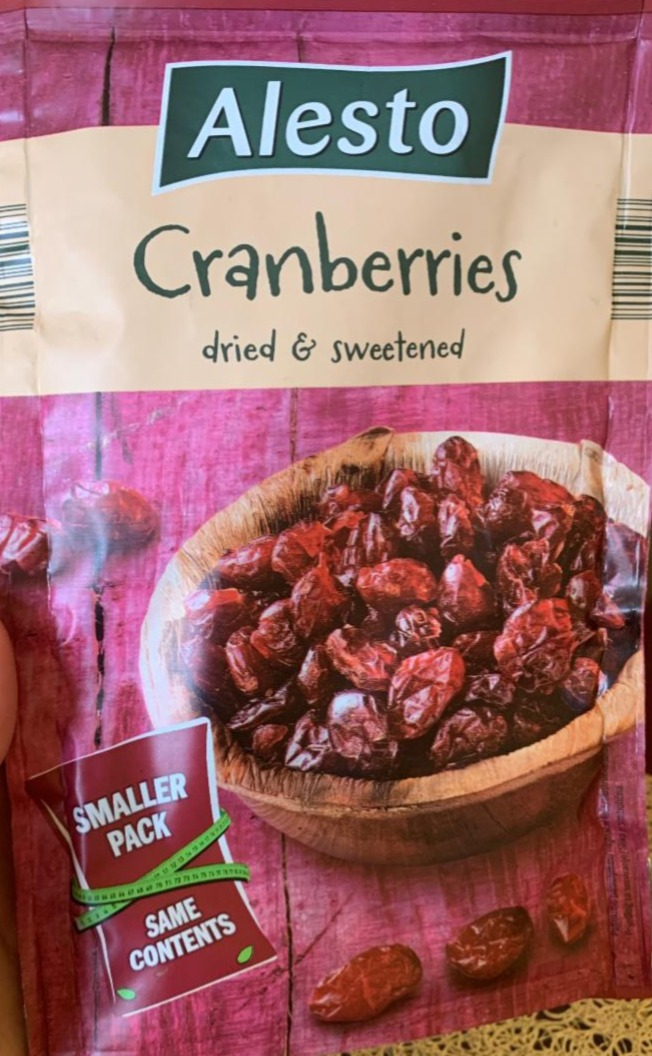 Fotografie - Cranberries dried & sweetened Alesto