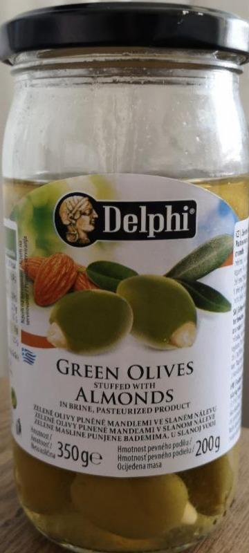 Fotografie - Green Olives stuffed with Almonds Delphi