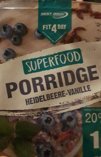 Fotografie - Superfood Porridge:Blueberry- Vanille Best Body
