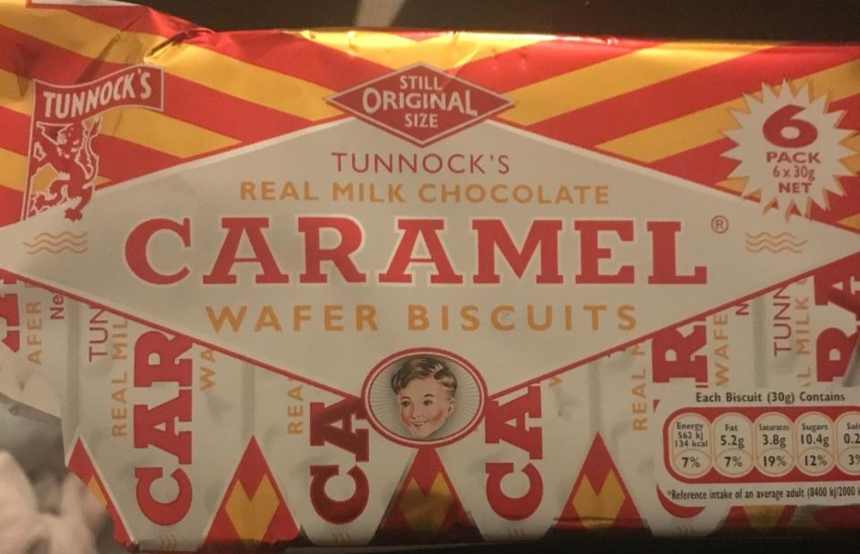 Fotografie - Real Milk Chocolate Caramel Wafer Biscuits Tunnock's