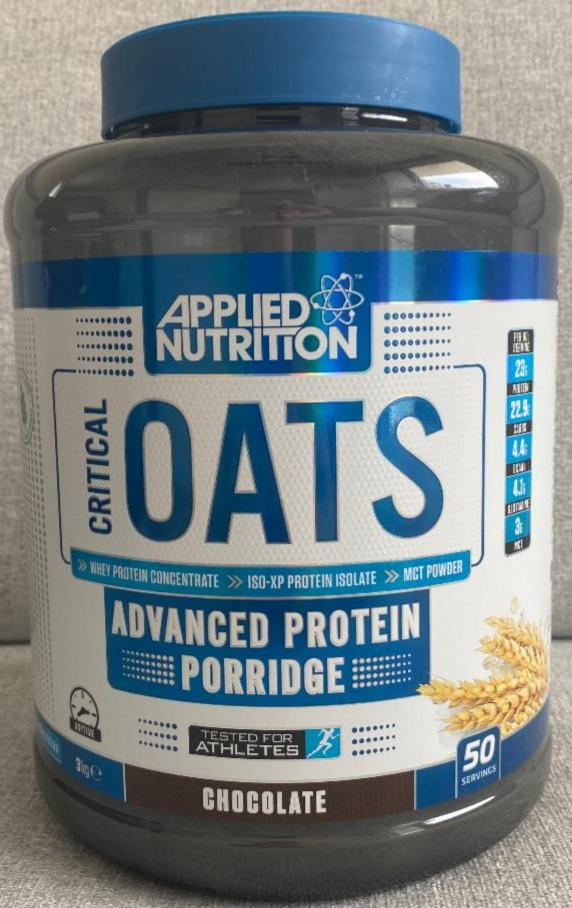 Fotografie - Critical Oats Protein Porridge Chocolate Applied Nutrition