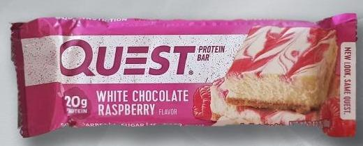Fotografie - Protein Bar White Chocolate Raspberry Quest Nutrition