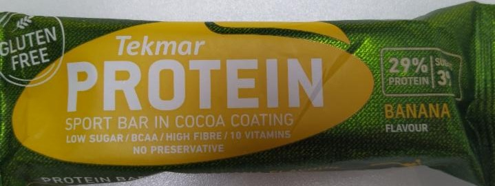 Fotografie - PROTEIN Sport bar in Cocoa Coating BANANA flavour Tekmar