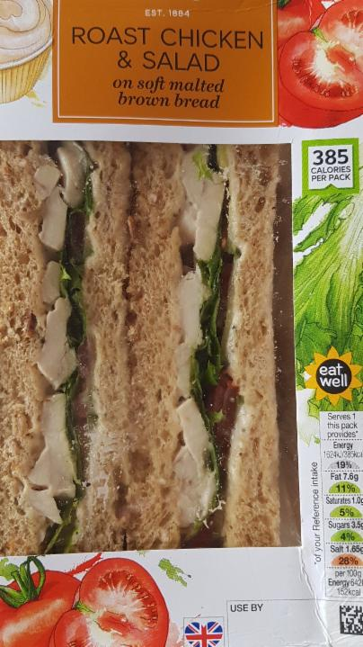 Fotografie - Roast Chicken Salad Sandwich Marks&Spencer