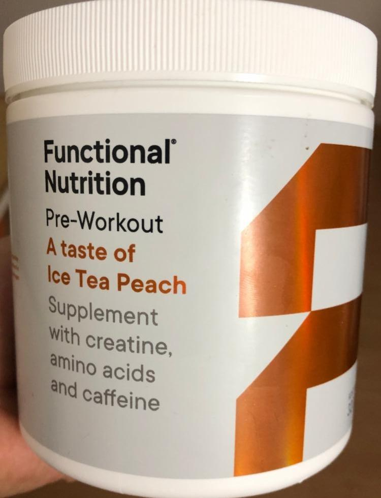 Fotografie - Pre-Workout Ice Tea Peach Functional Nutrition