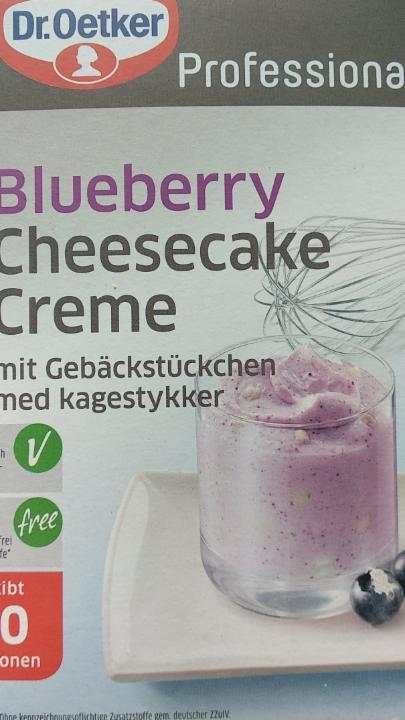 Fotografie - Blueberry Cheesecake Creme Dr.Oetker