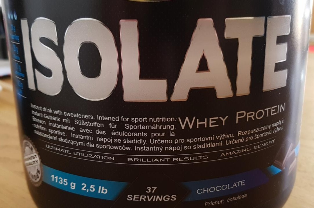 Fotografie - Isolate Whey Protein Chocolate Muscle sport