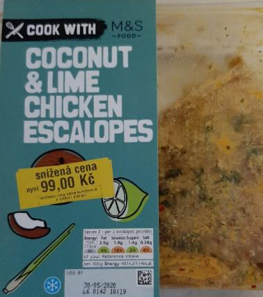 Fotografie - kuřecí řízky Coconut & Lime chicken escalopes M&S