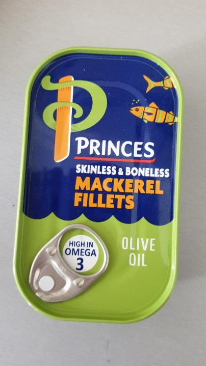 Fotografie - Princes Mackerel Fillets in Olive Oil - Sainsbury's