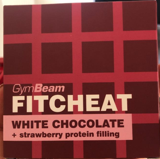 Fotografie - FITCHEAT White chocolate + strawberry protein filling