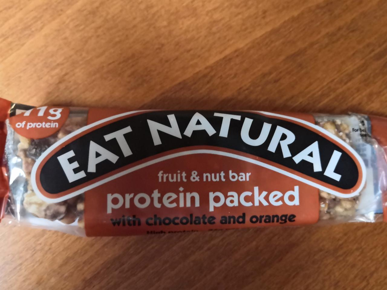 Fotografie - Eat natural fruit&nut bar protein packed with chocolate and orange