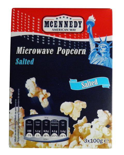 microwave popcorn salted McEnnedy