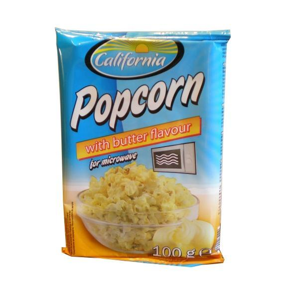 Popcorn with butter flavour