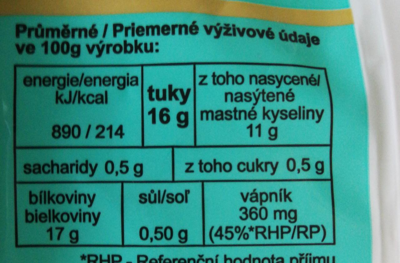 Mozzarella Italat - kalorie, kJ a nutriční hodnoty..