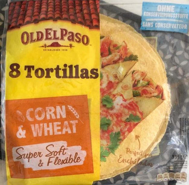 Fotografie - 8 Super Soft Tortillas Corn & Wheat Old El Paso