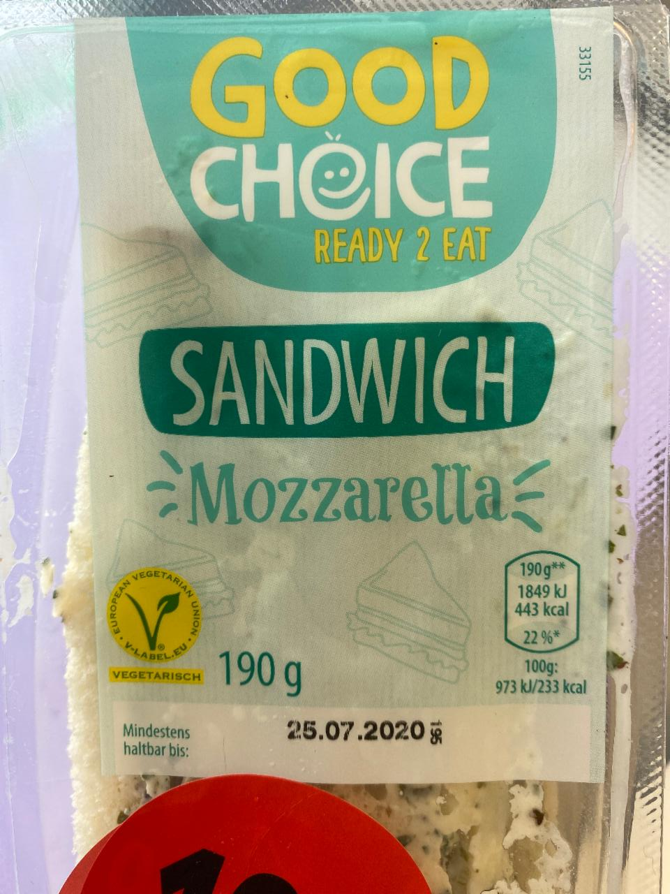 Fotografie - Sandwich Mozzarella Good Choice