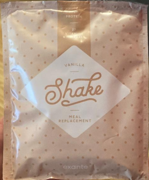 Fotografie - Shake meal replacement vanilla Exante