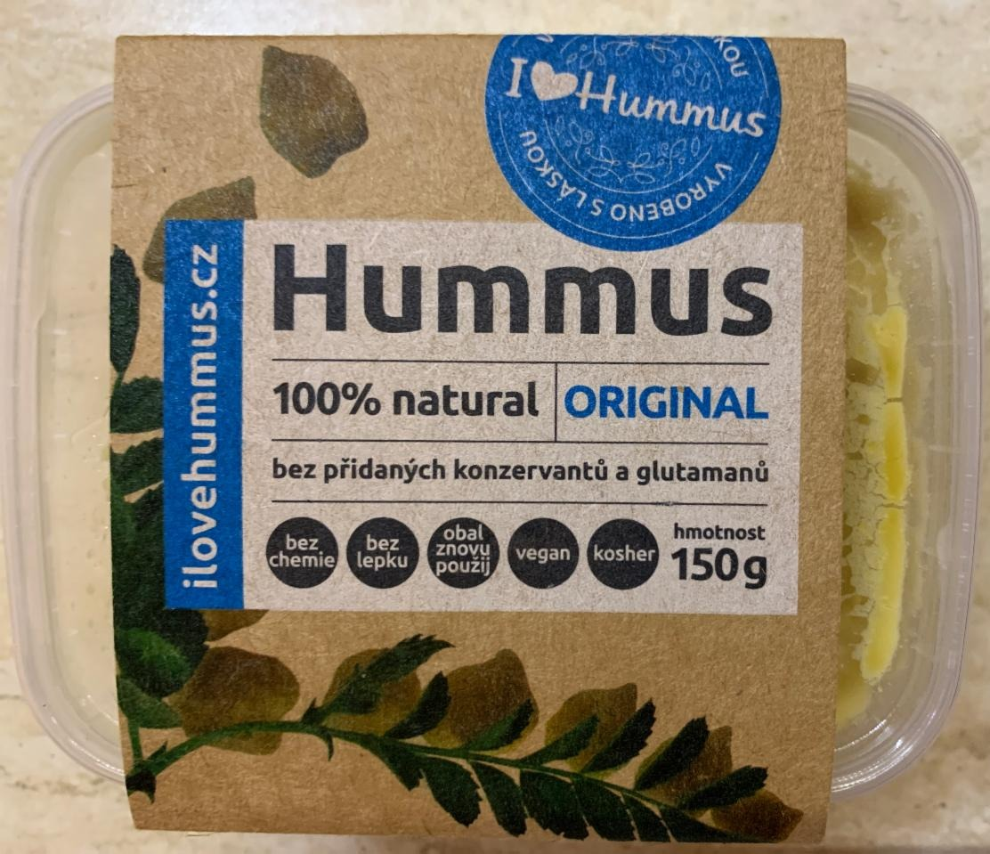 Fotografie - Hummus 100% natural Original I love Hummus