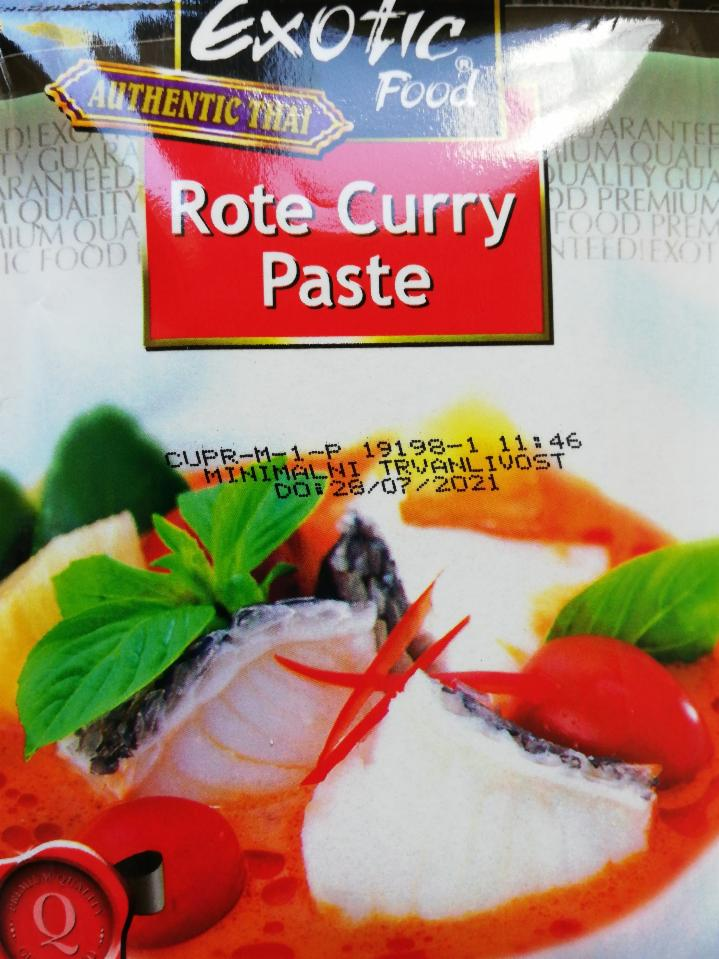 Fotografie - Rote curry paste Exotic Food