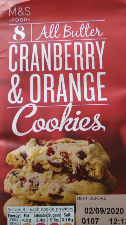 Fotografie - Cranberry & Orange Cookies M&S