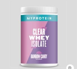 Fotografie - Clear whey isolate Myprotein Rainbow candy