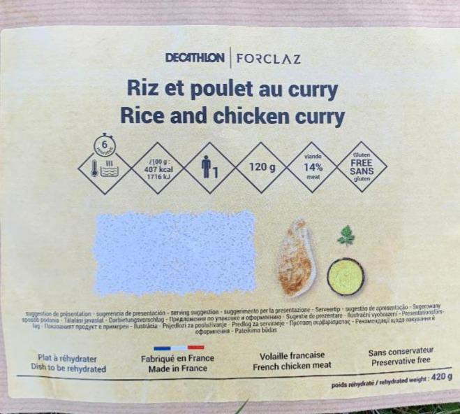Fotografie - Rýže a curry Decathlon