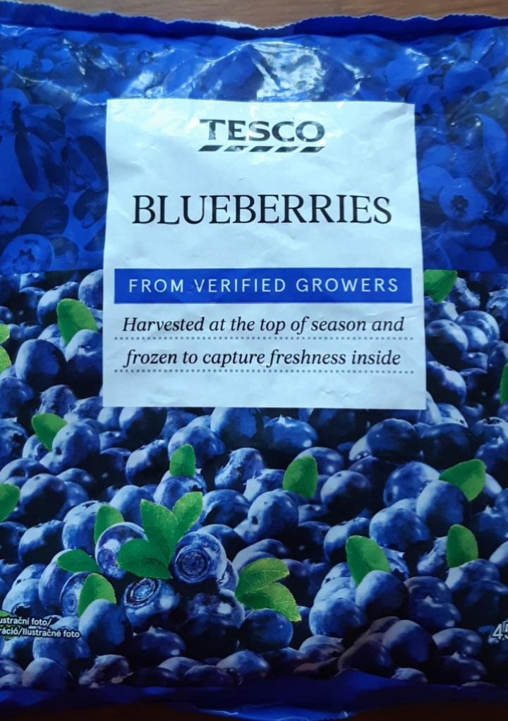 Fotografie - Blueberries frozen Tesco