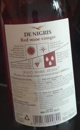 Fotografie - De Nigris Red wine vinegar