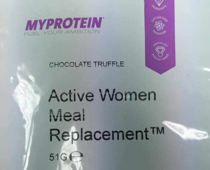 Active women meal replacement chocolate truffle