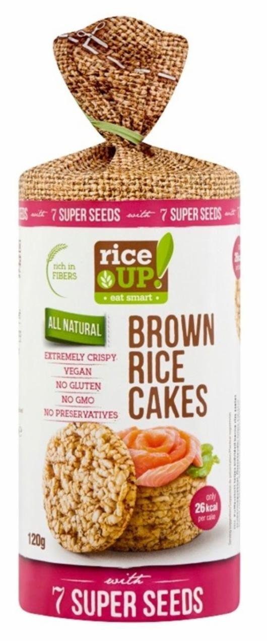 Fotografie - Brown rice cakes with 7 super seeds Rice up!