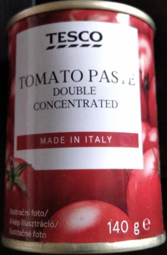 Fotografie - tomato paste double concentrated Tesco
