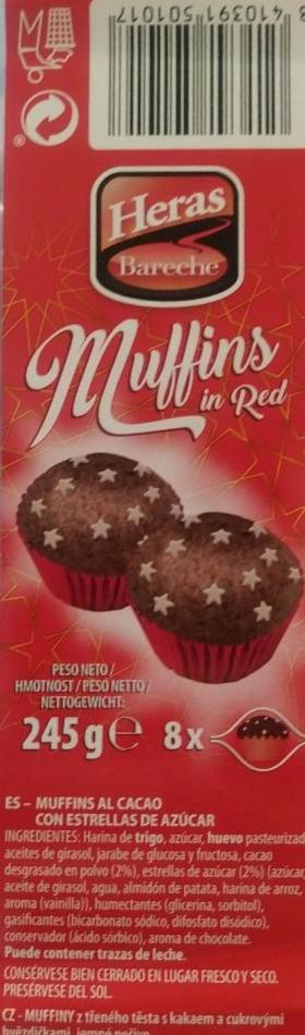 Fotografie - muffins in red