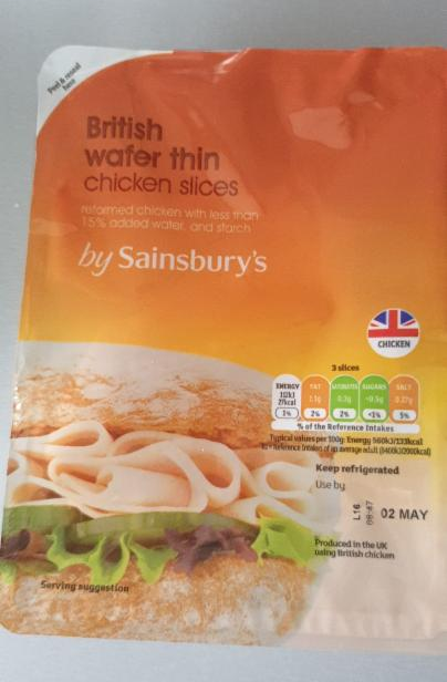 Fotografie - Wafer Thin British Chicken Slices - Sainsbury's