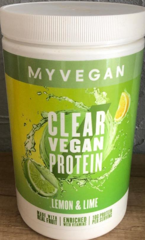 Fotografie - Clear Vegan Protein Lemon & Lime MyVegan