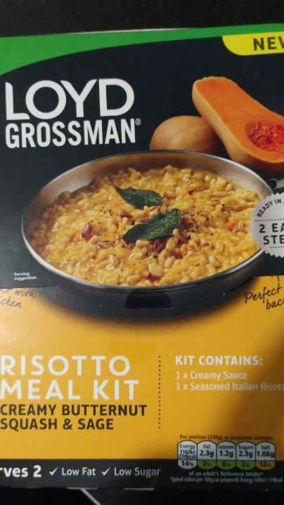 Fotografie - Risotto Meal Kit Creamy Butternut Squash & Sage - Loyd Grossman