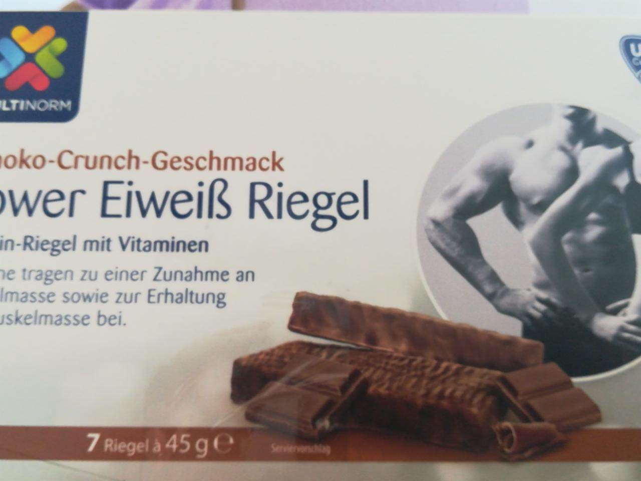 Fotografie - Power eiweiss riegel mit vitaminen Schoko-Crunch
