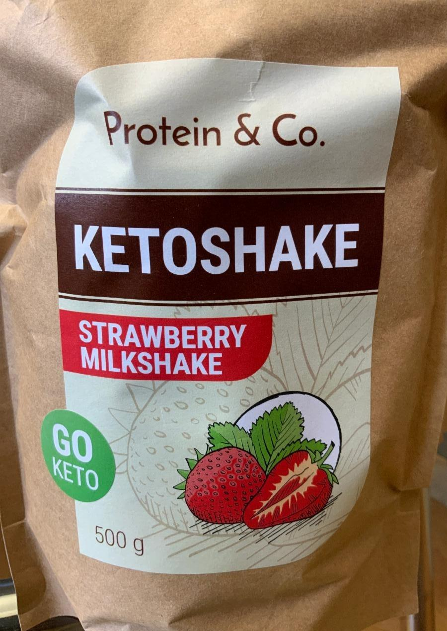 Fotografie - KETOSHAKE Strawberry Milkshake Protein & Co.