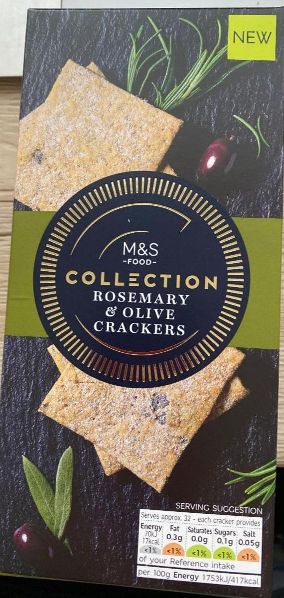 Fotografie - Rosemary & Olive Crackers M&S Food