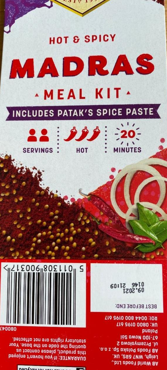 Fotografie - Madras meal kit Patak´s