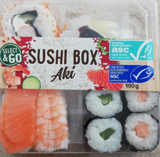 Fotografie - Select to go Sushi box Aki