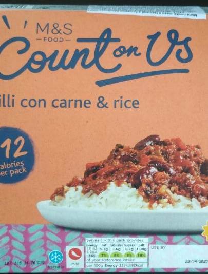 Fotografie - Chilli Con Carne & Rice - M&S