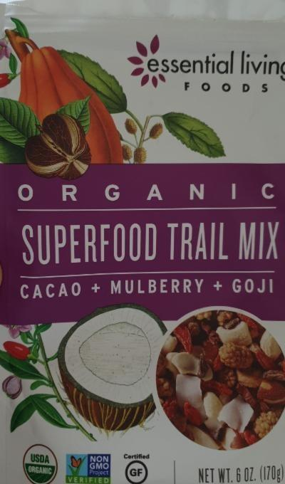 Fotografie - Organic Superfood Trail Mix Essential Living Foods