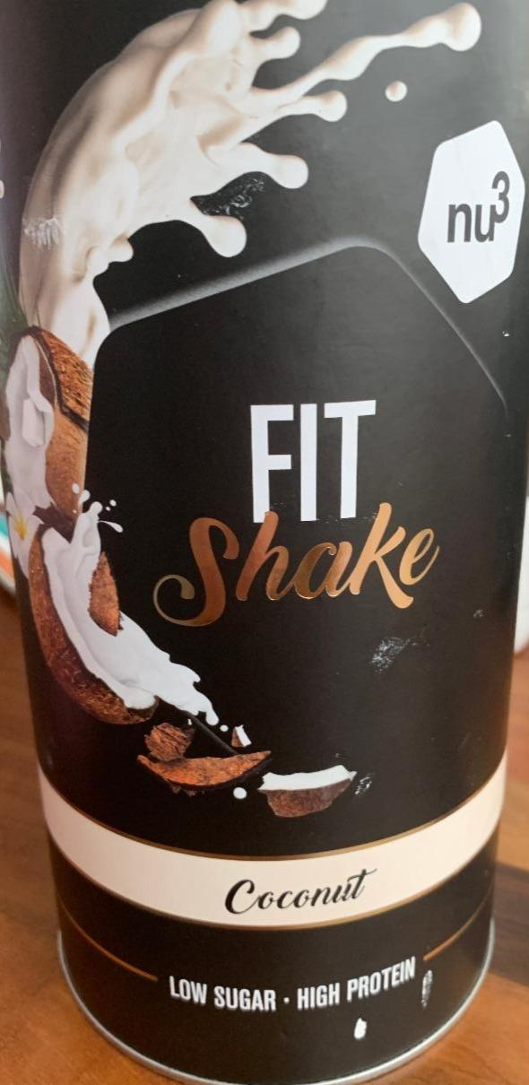 Fotografie - Fit shake coconut low sugar high protein Nu3