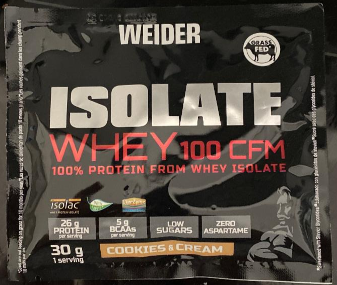 Fotografie - Isolate Whey 100 CFM protein cookies and cream Weider